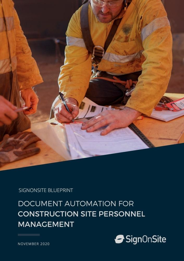 2020-11 Document automation for construction site personnel management cover
