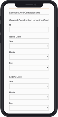 iPhone X - Induction Form - 6 - License A-min