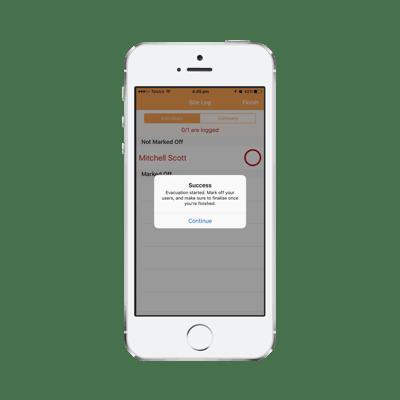 Mockup - Mobile - Evacuation Muster